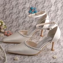 Заостренный носок платье сандалии с ремешком на щиколотке