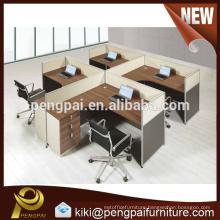 MDF melamine popular modern four seater office partition design