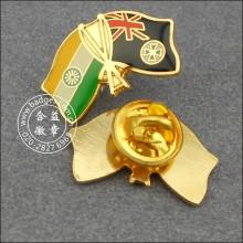 Emblema do Pin da lapela da bandeira do indiano e da Nova Zelândia (GZHY-LP-004)