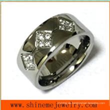 Edelstahl-Art- und Weisekörper-Schmucksache-Finger-Ring Czr2528