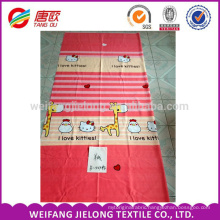 150d polyester fabric printed Fabric 65gsm Cheapest for Bedsheet