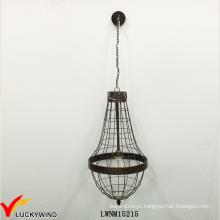 Cage vintage retro interior pingente de metal iluminação