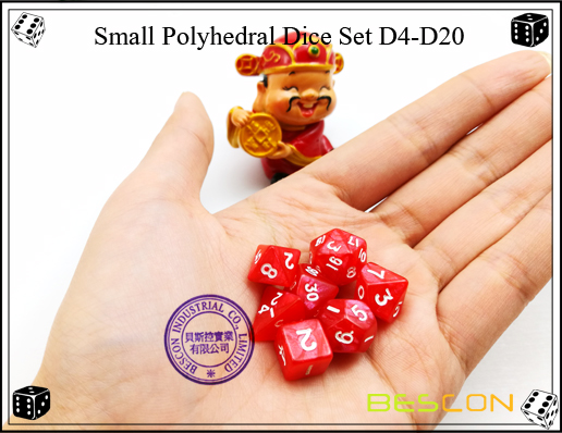 Small Polyhedral Dice Set D4-D20-4