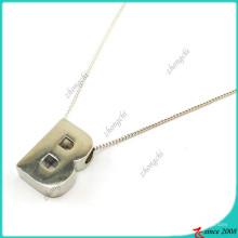 Colar de prata letra B para senhora (FN16041810)
