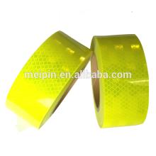 Hoja reflectante amarilla fluorescente / cinta reflectante de alta intensidad