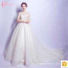 Vestidos de casamento de vestidos de baile mais luxuosos de 2017 Beaded China Designs