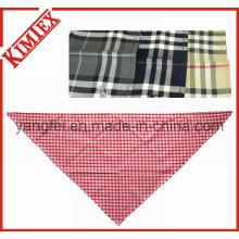100% Cotton Fashion Triangle Checked Plaid Bandana