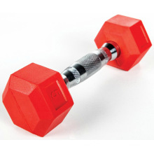 Wholesale Cheap Color Rubber Coated Cast Iron Dumbbell