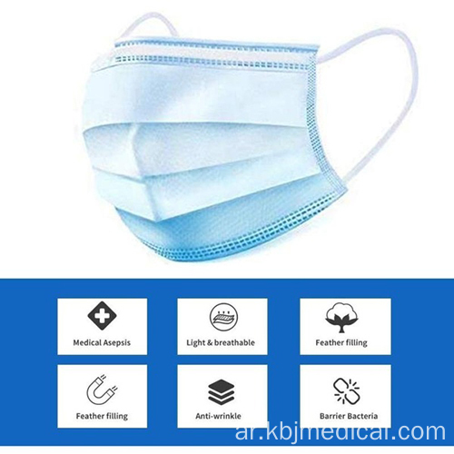 Medical Face Mask with earloop and 3-Ply type