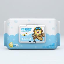 Мягкие хлопковые чистящие влажные детские салфетки без запаха