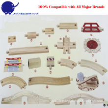 Ensemble de rangement en bois Straight and Curved Railway Expansion Track