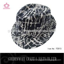 leopard fedora hats flat top fedora hat for wholesale