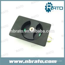 Verrouillage de porte caché en ABS noir