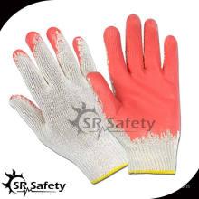 SRSAFETY 10G Knitted Polycotton Latex Work Glove,Economic Style