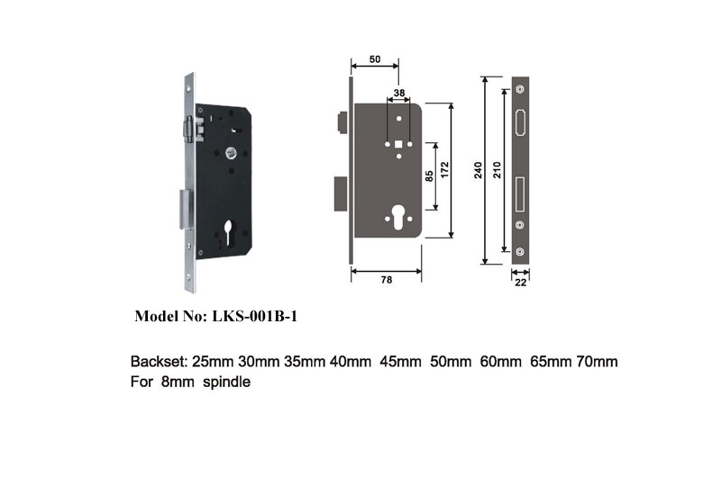 European Style Mortise Lock Passage Doors