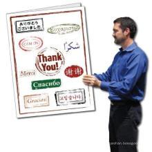2 карты «X 3» с конвертом Гигантская открытка «Спасибо», открытки с благодарностями