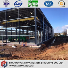 Construction en acier de structure en treillis pour un entrepôt de grande hauteur
