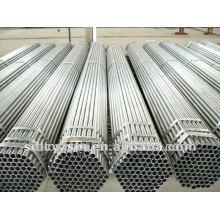 BS 1387 Q195-Q345 St37 2.5 pouces a fileté l'extrémité galvanisée Erw a soudé des tuyaux d'acier doux