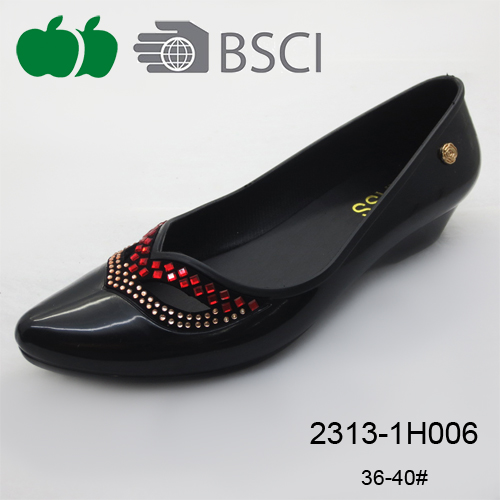 fashion ladies pvc casual shoe