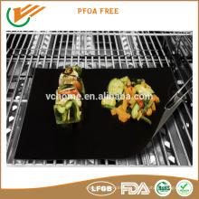 Paket angepasst FDA LFGB zertifiziert PFOA kostenlose non-sticky BBQ Grill Matte