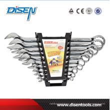 10PCS cromo dupla plástico clip combinação handtool conjunto