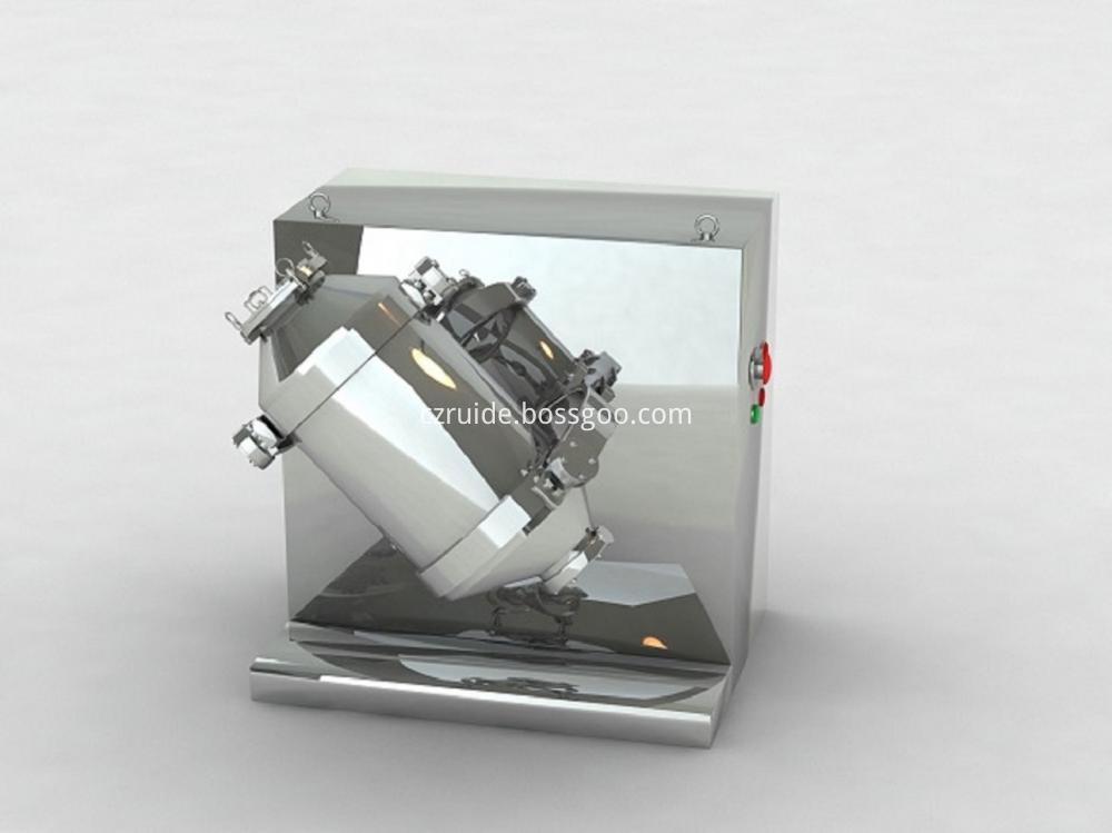 Three Dimensional Rotary Mixer for Mixing Crude Medicine Powder