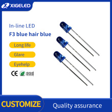 F3 blue hair blue lamp bead LED light
