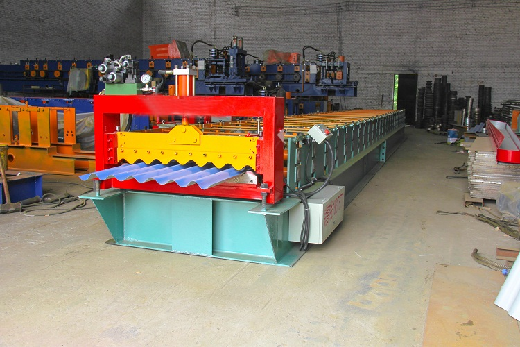 New corrugated orthodrome steel roll forming machine