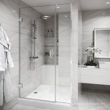 Seawin hotel project  multi-size Frameless Hinge Tempered Glass Shower Door
