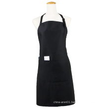 Kefei promotional high quality culinary blank aprons black apron with pockets