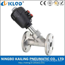 plastic actuator flanged angle valve, stainless steel body, DIN/ISO/JIS/GB standard, CE/ISO supported (DN15, KLJZF-15F)