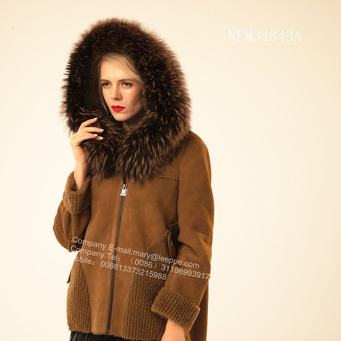 Short Fur Hooded Jacket