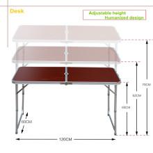 Наружный складной столик с регулируемой высотой