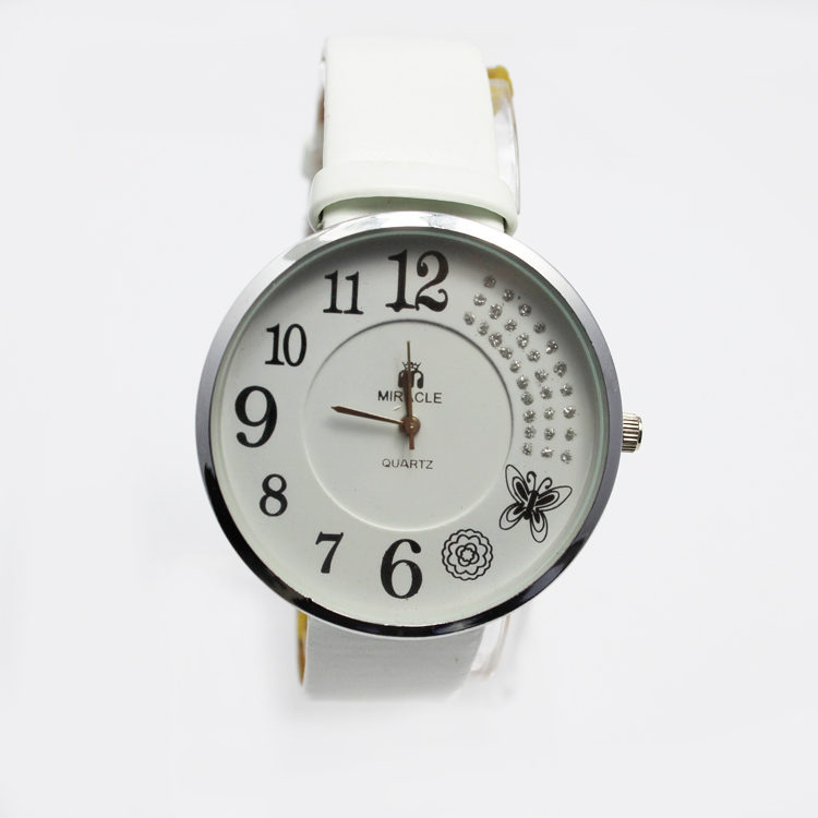 3-5ATM Waterproof Christmas Quartz Leather Watch