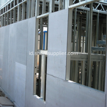 Panel Dinding Eksternal Papan Semen Serat Anti Korosi 12mm
