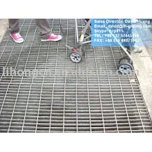 Revêtement de grille en acier à tranchant galvanisé