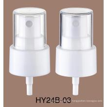 Botella de perfume plástica material principal de los PP Botella de perfume de la encrespadura de la bomba de espray de aluminio