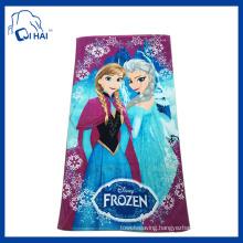 Cotton Printed Frozen Beach Towel (QH88132)