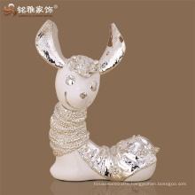 Animal theme interior decoration craft polyresin couple animal sculpture for sale