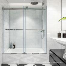 Seawin Design Easy Chrome clear Glass Frameless Shower Sliding bathtub Doors