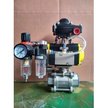 """Pneumático 25mm (1 """"BSP) Válvulas de esfera de aço inoxidável 316 de grau de 3 peças"""