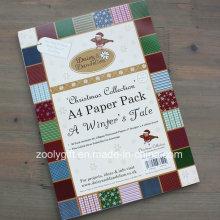 Coleção de Natal A4 Papel Pack Handmade DIY Scrapbooking Papel
