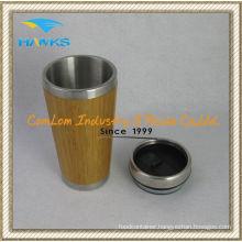400ml Stainless Steel Bamboo Mug