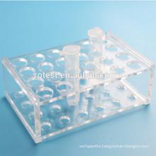 laboratory test tube and centrifuge tube rack 5ml 24well
