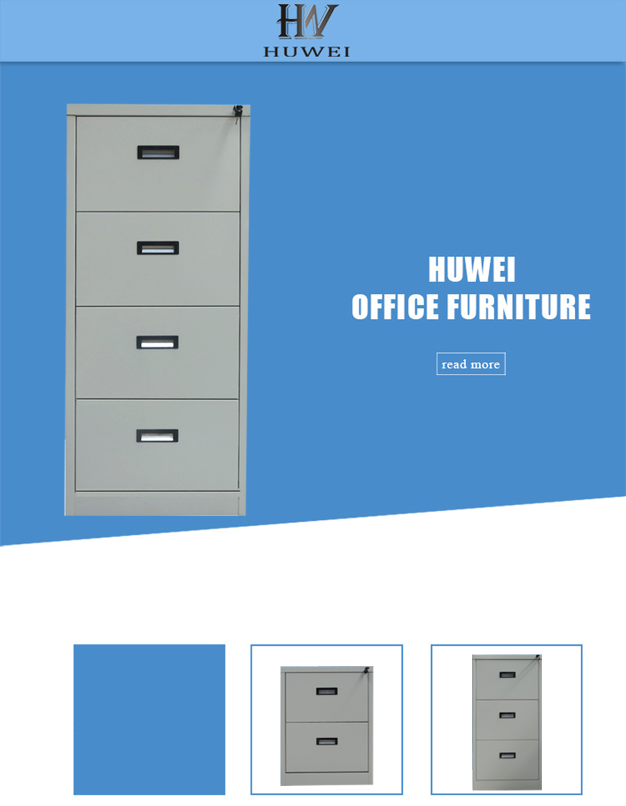 4 layer steel drawer cabinet