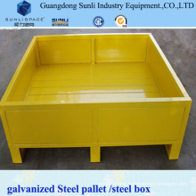 Galvanized Foldable Steel Box Pallet Container
