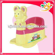 Cartoon appearance potty chair baby cute potty with wheels,moveable mini toilet with music