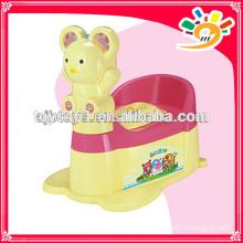 Мультфильм появление горшок стул ребенка милый горшок с колесами, подвижный мини-туалет с музыкой