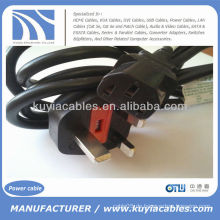 UK Hot Sell SP-62 Elektronik Netzkabel für PC 13A bis 10A 250V ~ IEC S3 RVV
