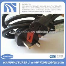 UK Hot Sell SP-62 Electronics Câble d'alimentation pour PC 13A à 10A 250V ~ IEC S3 RVV